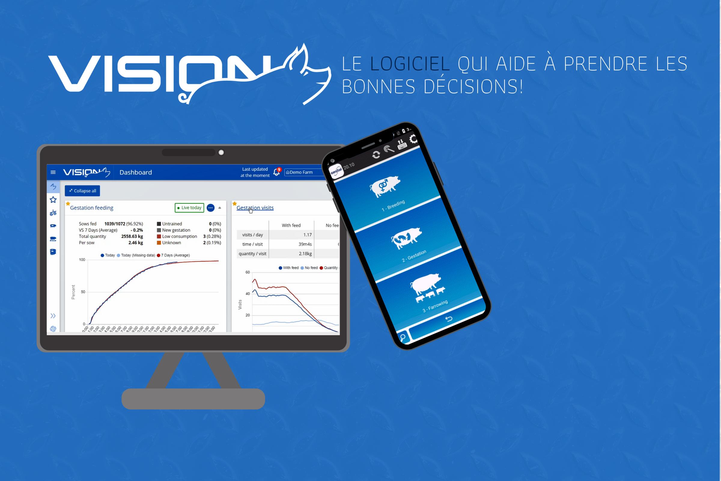 Vision - logiciel d'alimentation et de gestion de troupeau